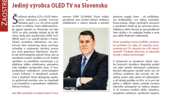 Industry Today: Profile interview with managing director of Foxconn Slovakia