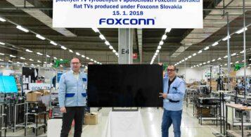 20-miliónty televízor z Foxconn Slovakia